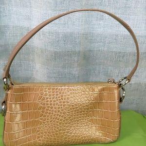 Beige Crocodile Print handbag by BCBGirls